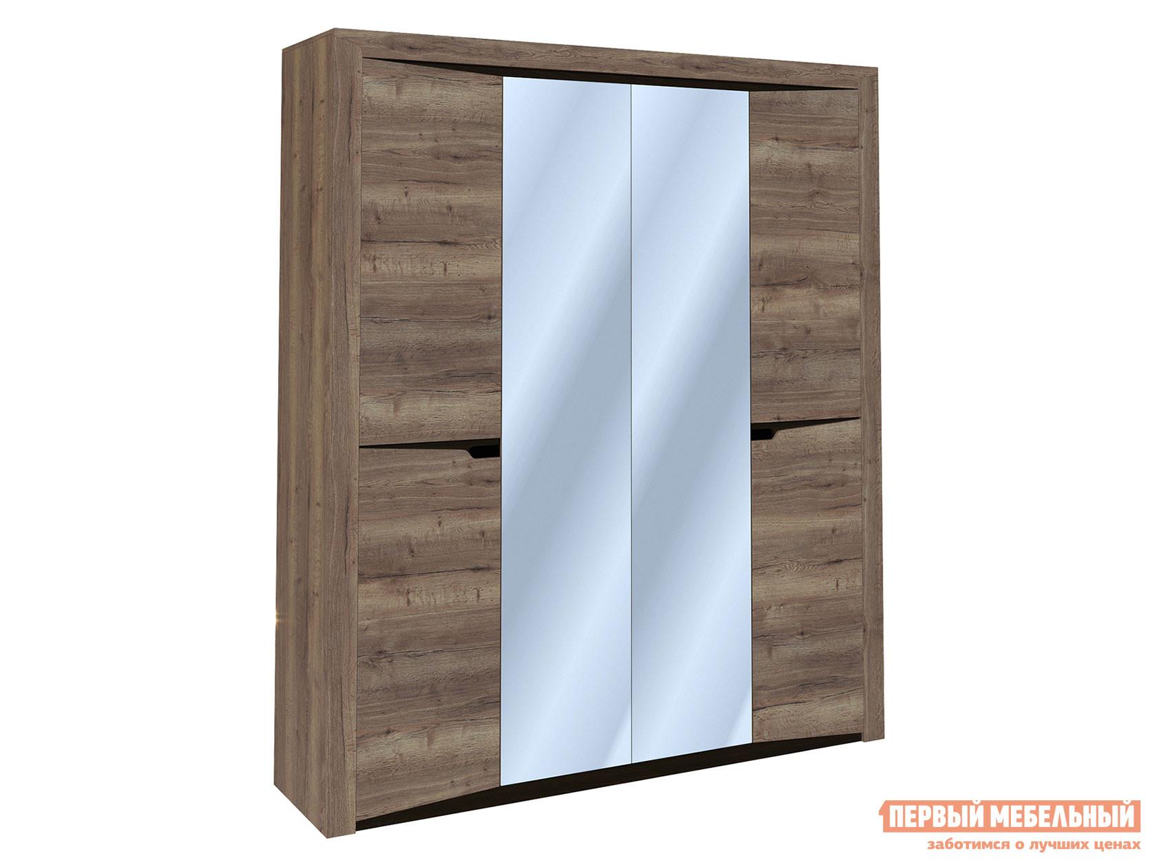 Шкаф 4-х дверный распашной Первый Мебельный Гарда 4-х дверный с зеркалом распашной шкаф шкаф 4 х дверный с доводчиками медея медея