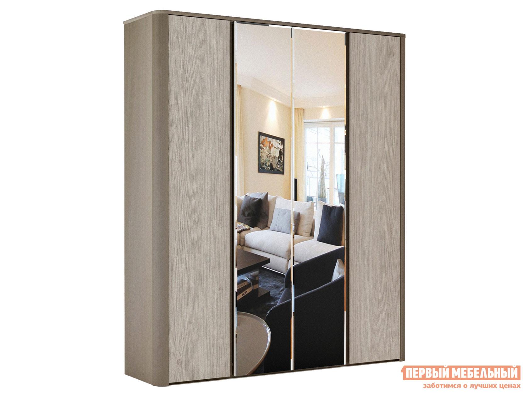 Распашной шкаф с двумя зеркальными створками Первый Мебельный Шкаф 4-х дверный с зеркалом Лацио распашной шкаф шкаф 4 х дверный с доводчиками медея медея
