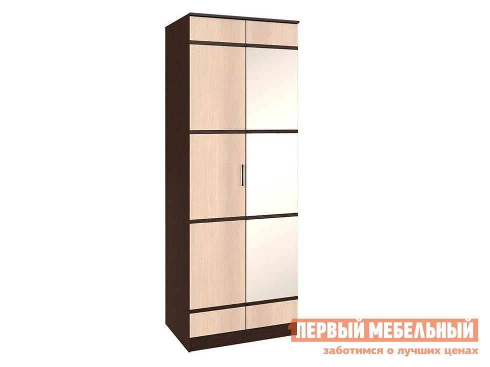 Шкаф с зеркалом Первый Мебельный Сакура Ш2 с зеркалом