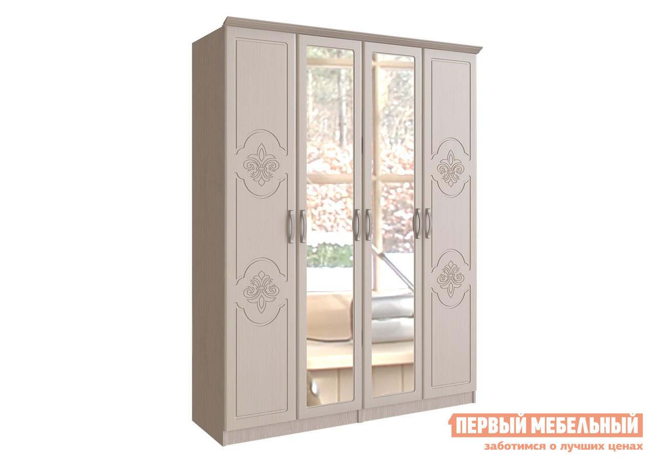 Распашной шкаф Первый Мебельный Шкаф 4-х ств. с зеркалом Лилия цена