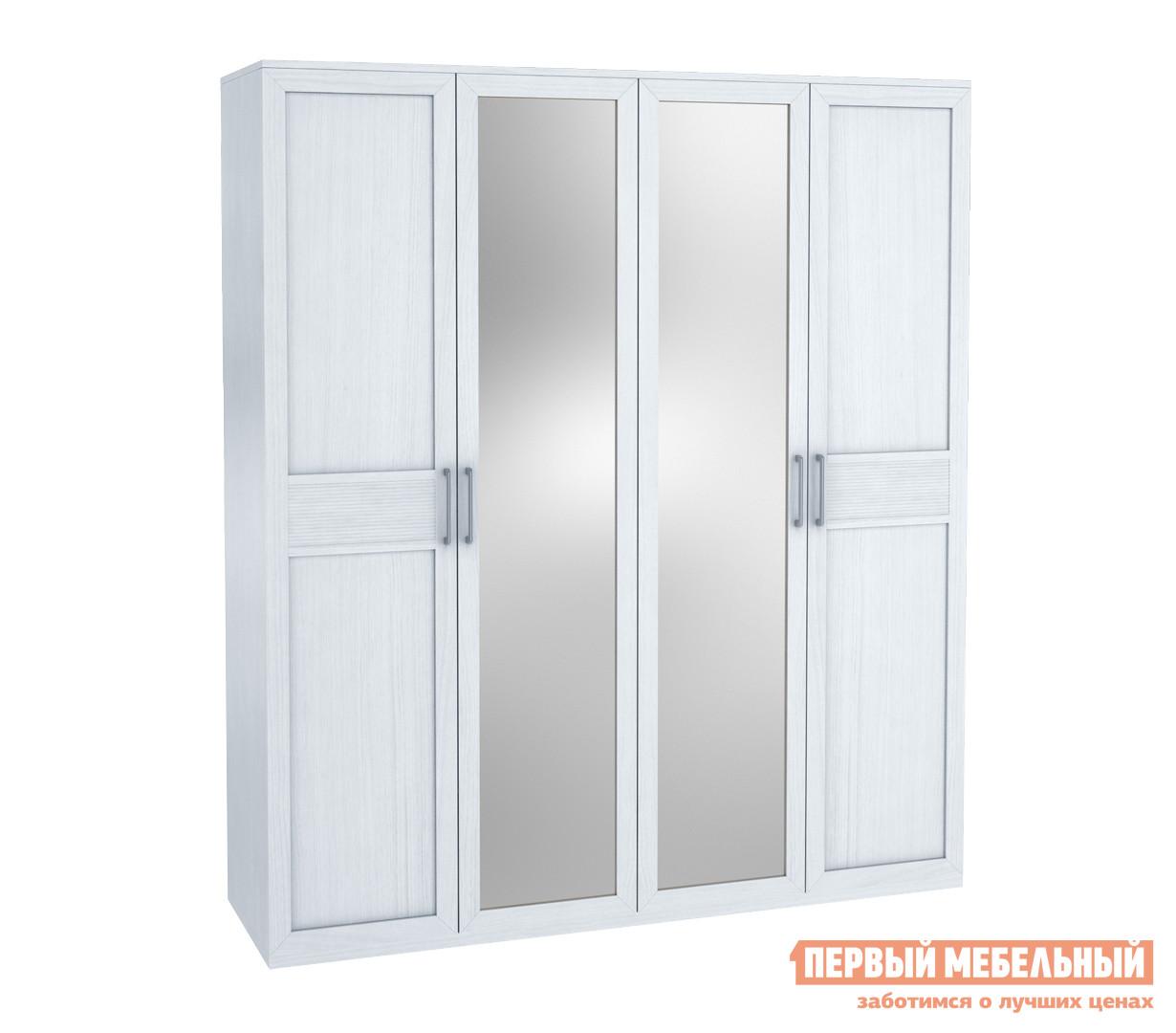 Шкаф 4-х дверный с зеркалом Первый Мебельный Капри Ш4