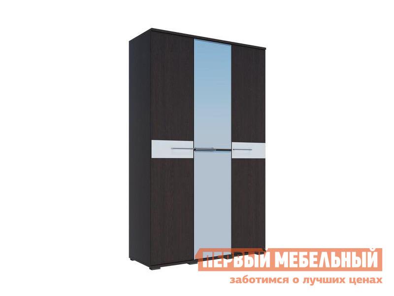 Шкаф распашной Первый Мебельный Шкаф 3-х створчатый с зеркалом Луиза