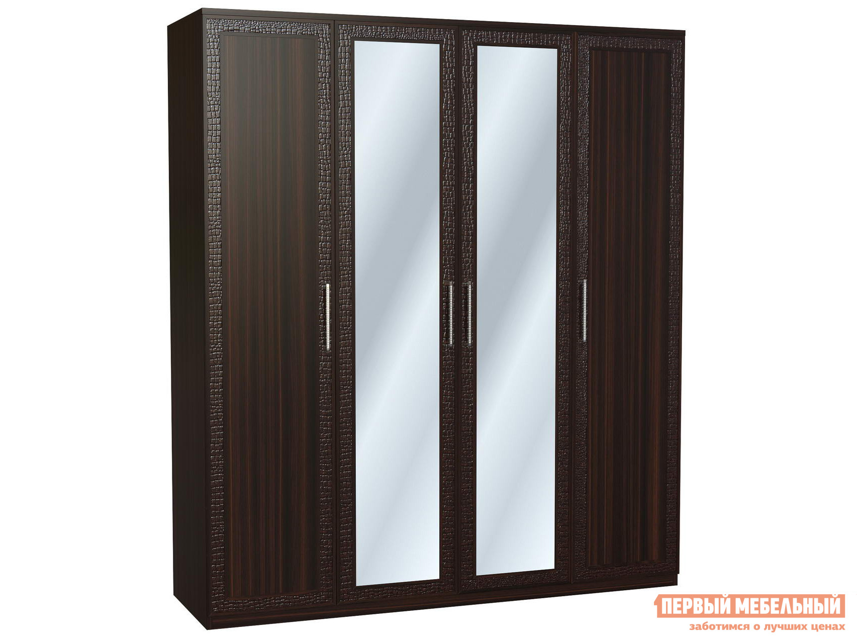Шкаф четырехдверный распашной с зеркалом Первый Мебельный Тоскана Ш4 распашной шкаф первый мебельный тоскана 4