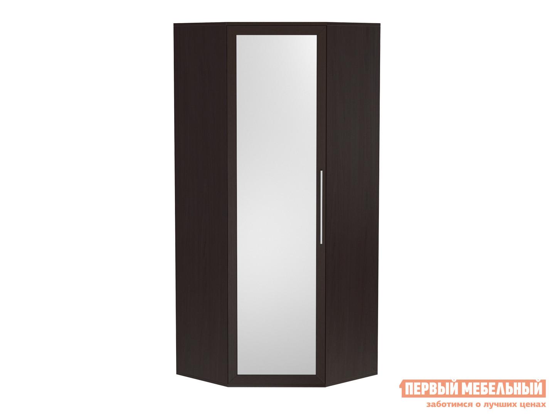 Шкаф угловой с зеркалом Первый Мебельный Парма ШУ с зеркалом
