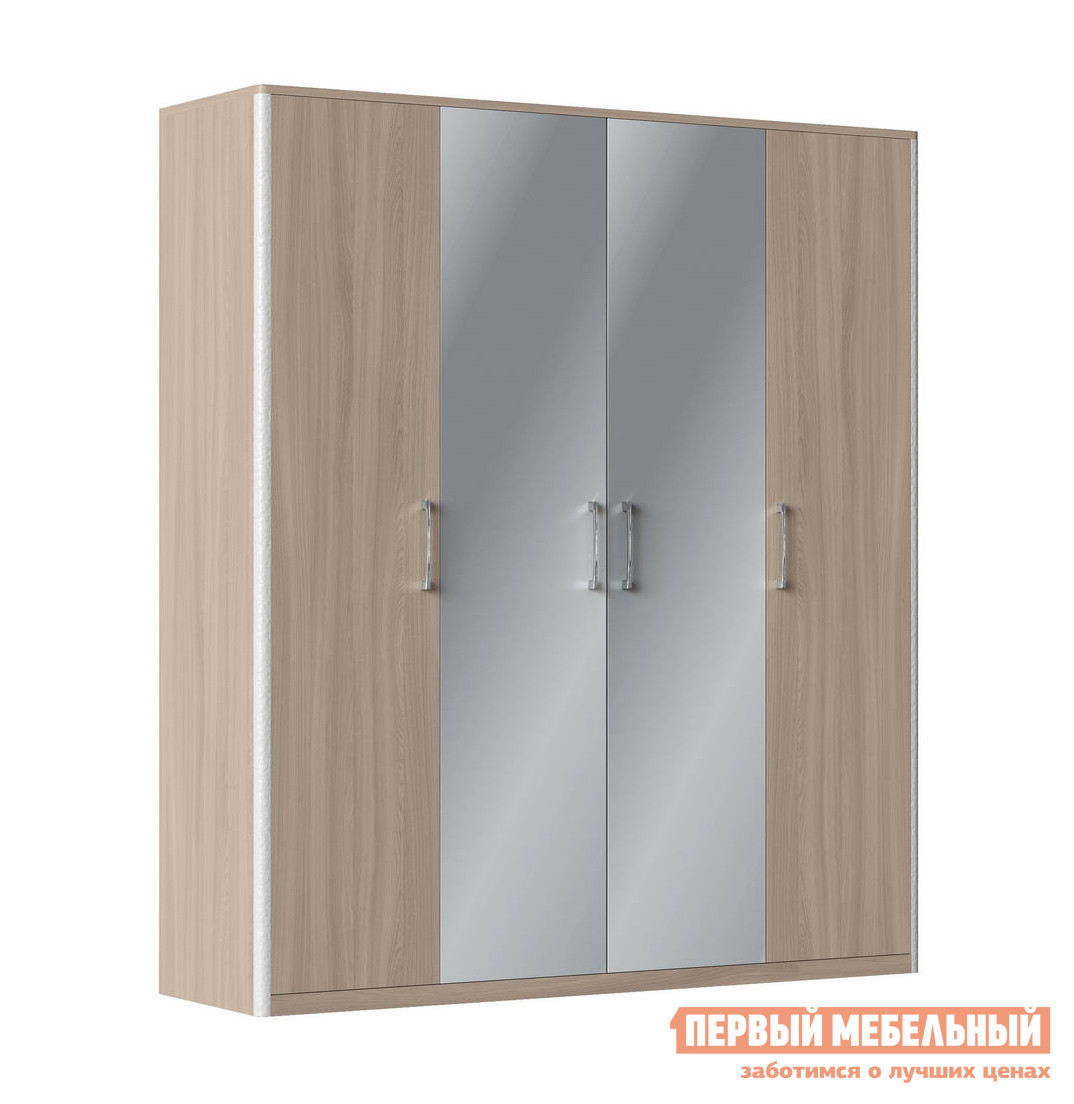 Шкаф распашной четырехдверный с зеркалом Первый Мебельный Сорренто Ш4 шкаф распашной мст натали шкаф четырехдверный мод 10