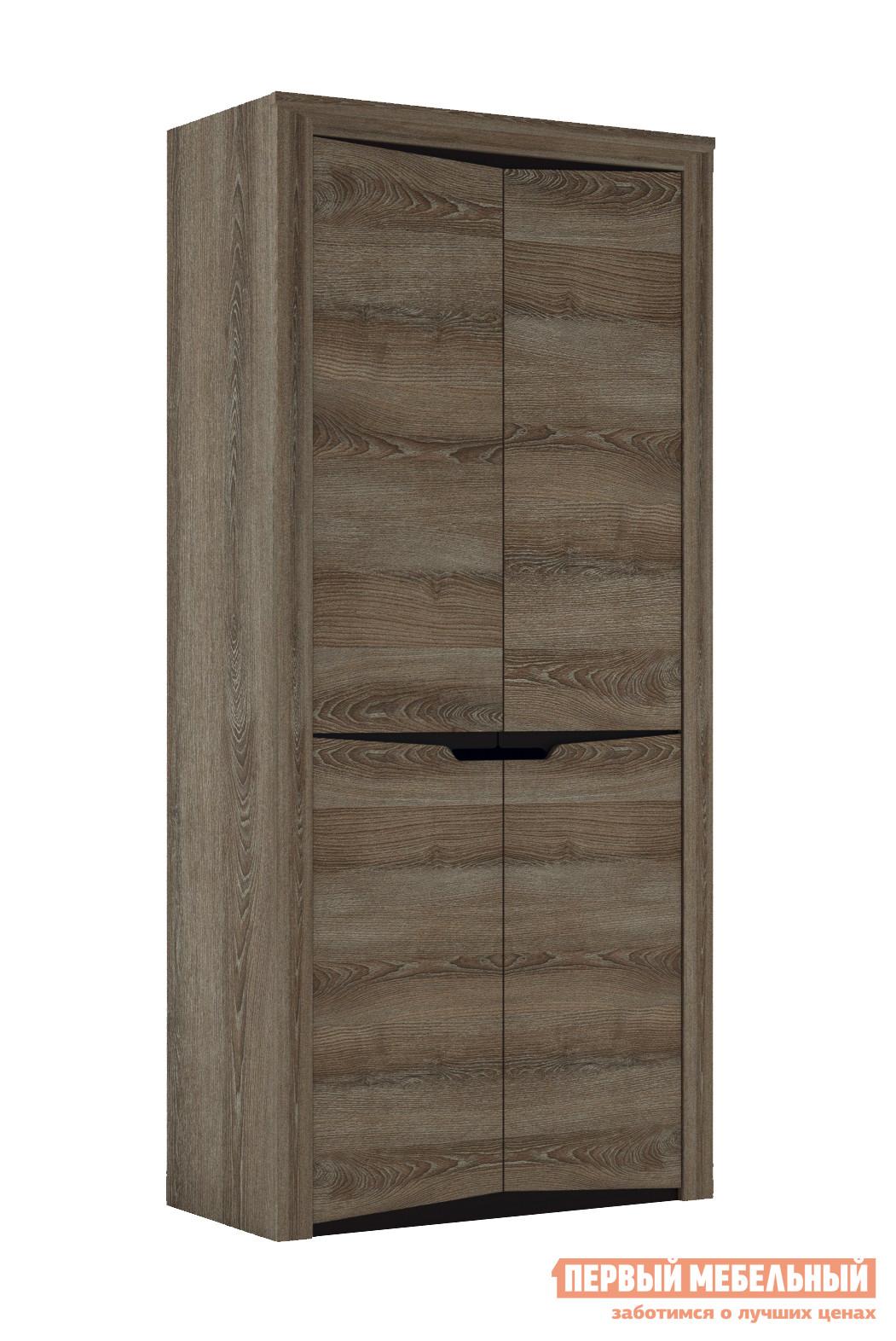 Распашной шкаф  2-х дверный Гарда Ясень Таормино, Без полок СБК 70173