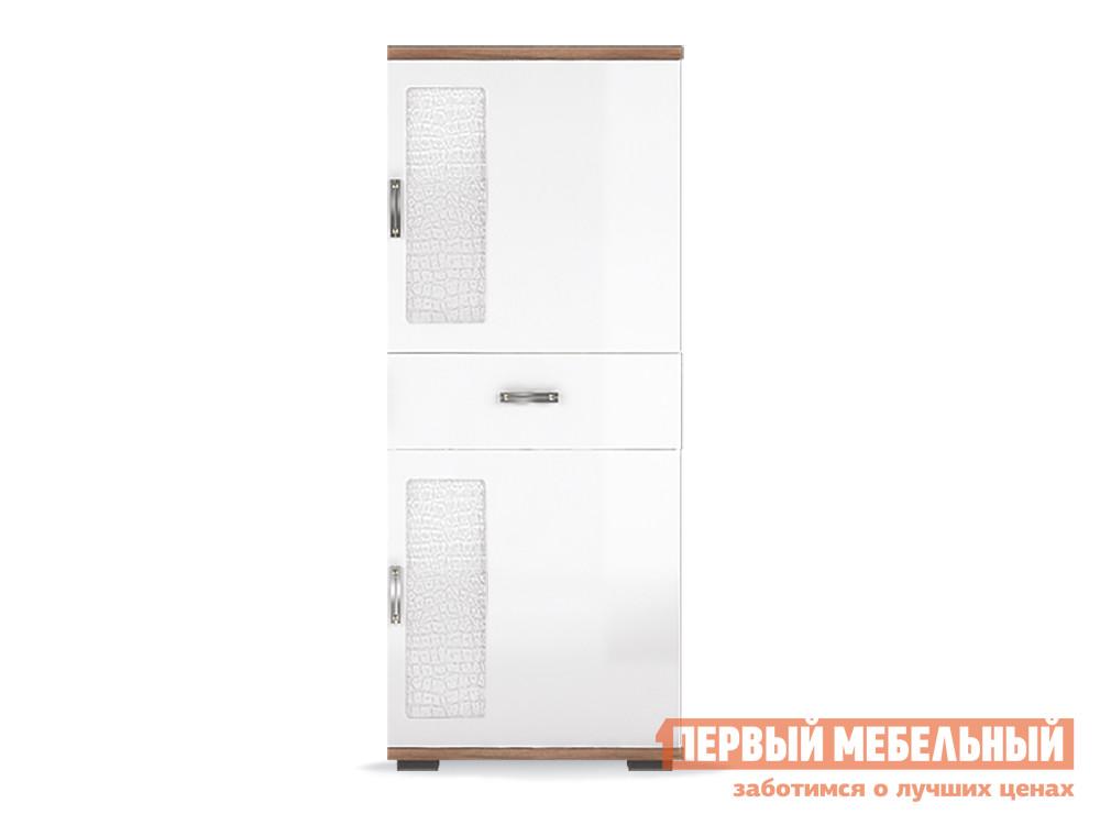 цены на Шкаф 2-х дверный низкий Первый Мебельный Вега Нео 7  в интернет-магазинах
