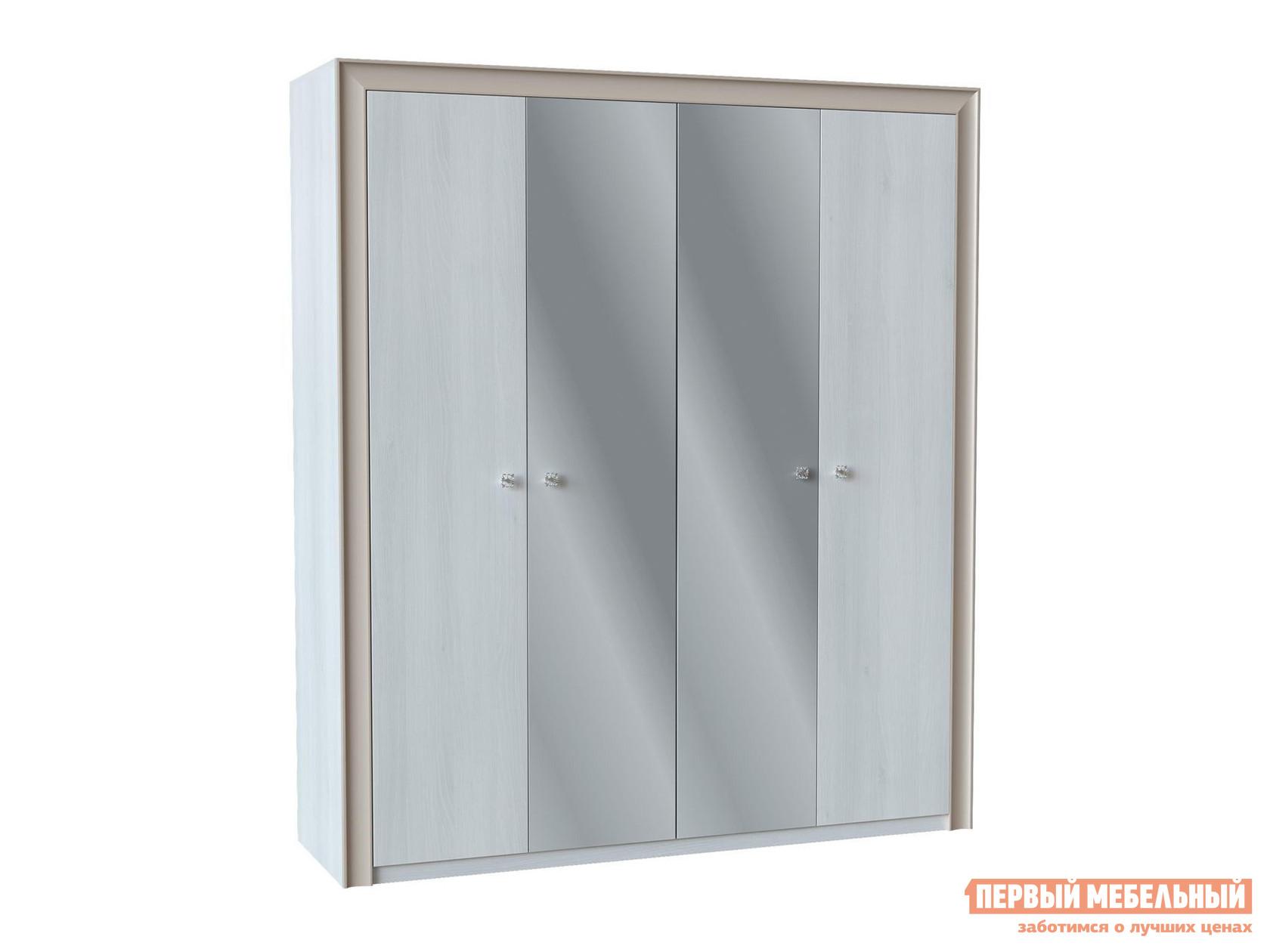 Шкаф распашной с зеркалом Первый Мебельный Прато Ш4