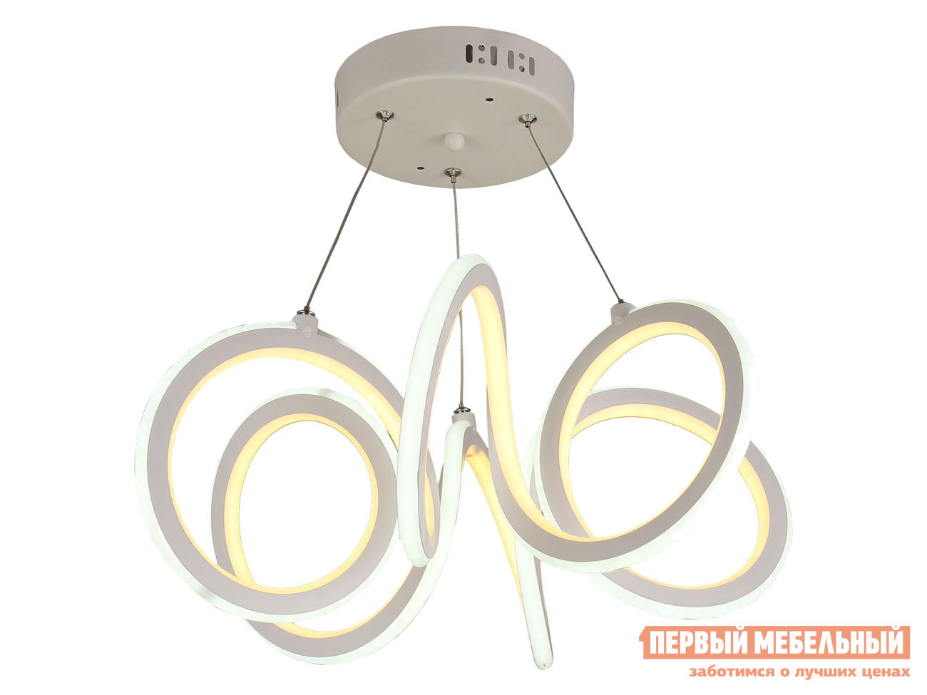 Люстра  подвесная PLS-7001-500 LED 138W, пульт ДУ Белый Электросвет 124394
