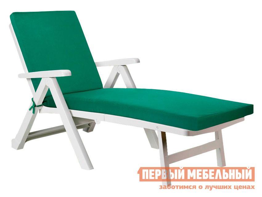 Матрас для шезлонга  Матрас для шезлонга Темп с молнией на завязках 4589, зеленый