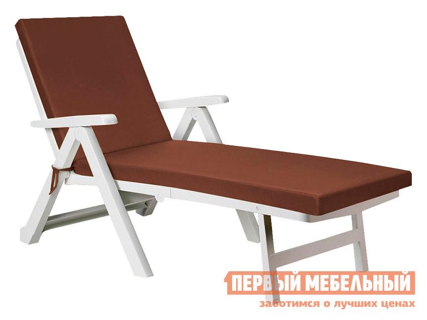 Матрас для шезлонга Первый Мебельный Матрас для шезлонга Темп с молнией на завязках / Сидушка со спинкой (120+70)х60х7 Темп