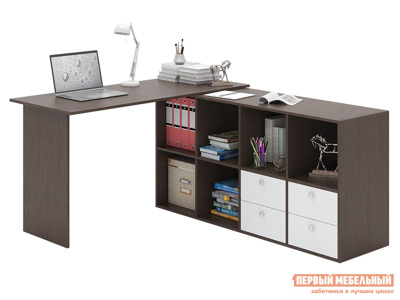 Письменный стол  Прайм-72 Венге / Белый МФ Мастер 129123