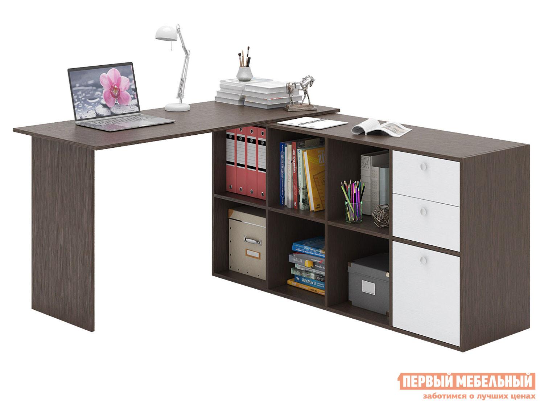 Письменный стол  Прайм-74 Венге / Белый МФ Мастер 129138