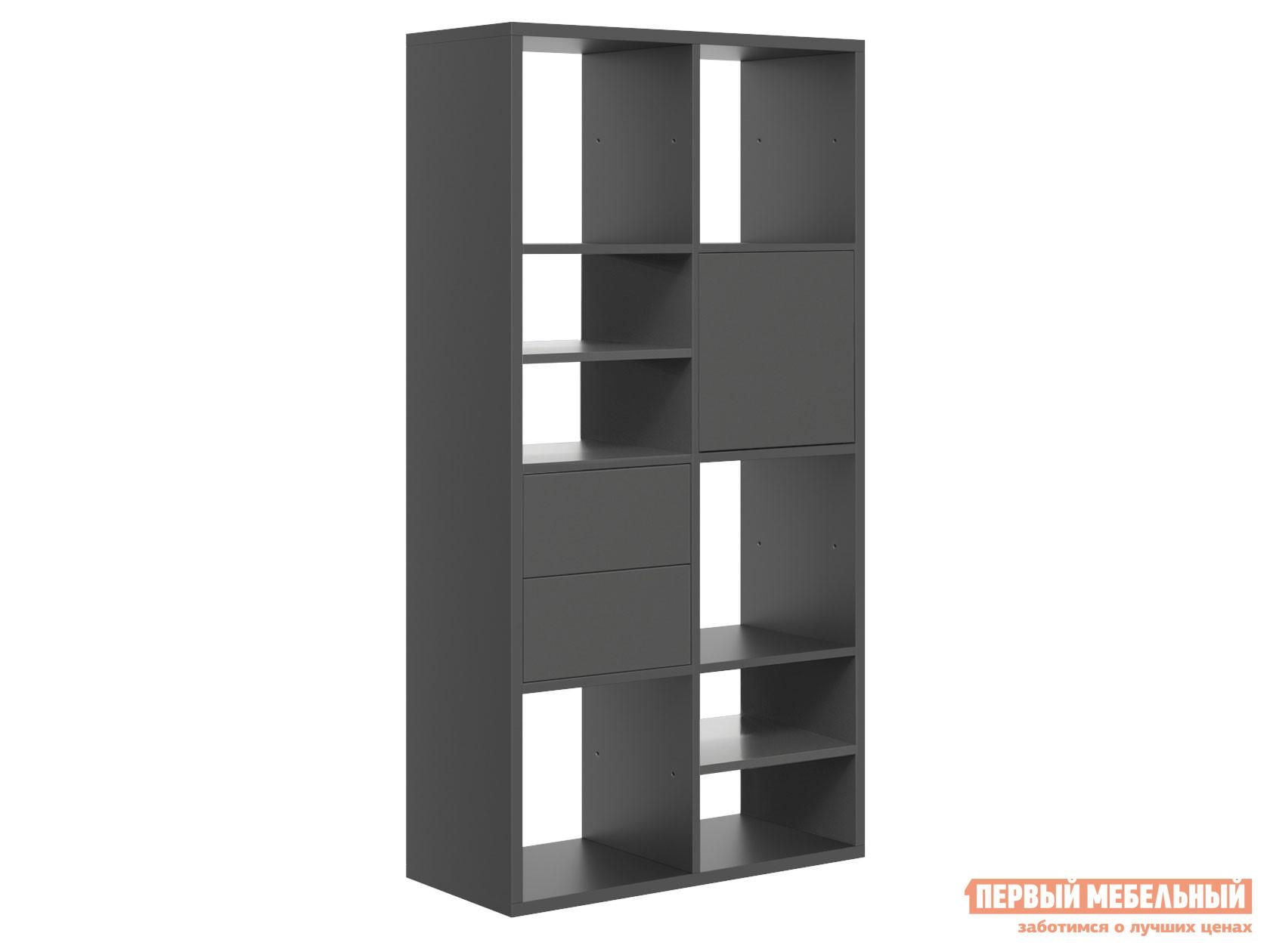 Стеллаж Первый Мебельный Микс 8 с ящиками и дверцей nowley 8 5360 0 2