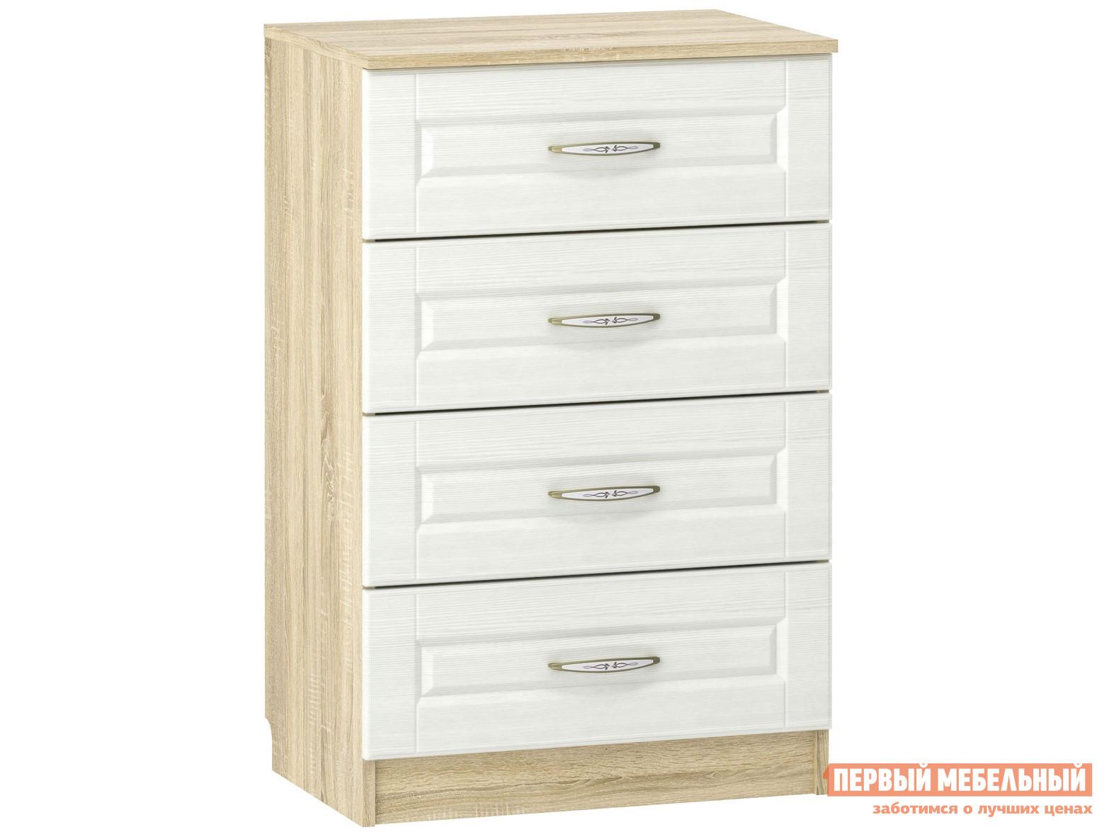 Комод Первый Мебельный Комод Оливия Лайт 4 ящ НМ 040.38 комод первый мебельный комод франк 3 ящ
