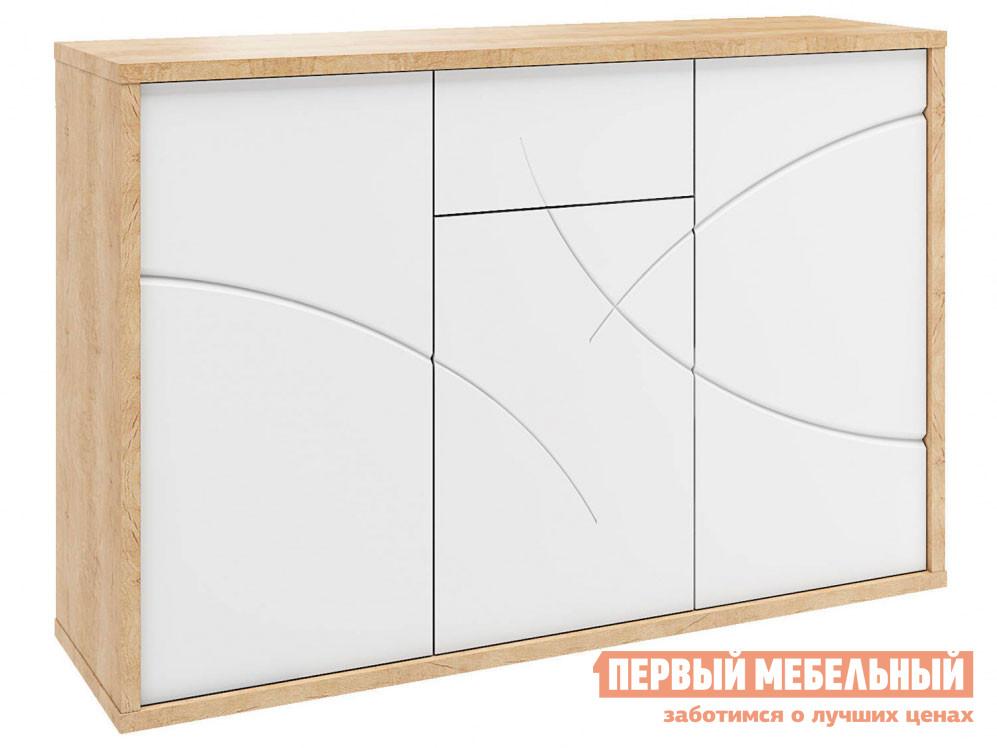 Комод  Комод Мадера Дуб Небраска / Белый глянец