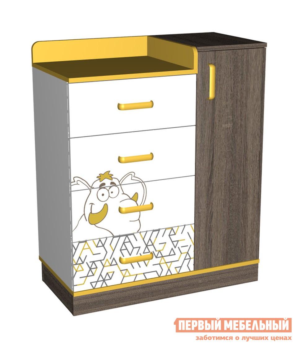 Комод детский комбинированный Первый Мебельный Комод комбинированный Сафари