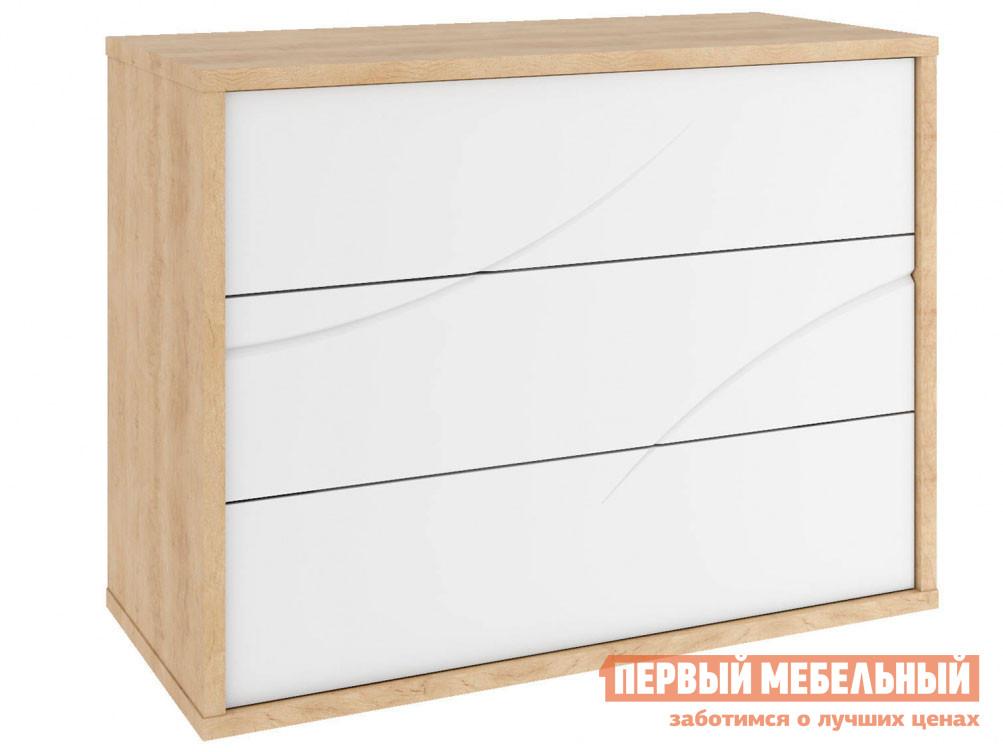 Комод  Комод Мадера 2 Дуб Небраска / Белый глянец