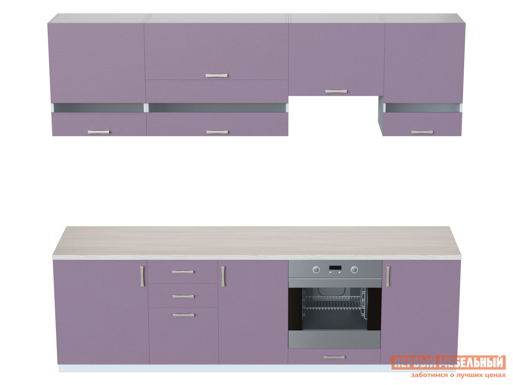 Кухонный гарнитур  Кухня Спринг Лаванда 2,6 Лаванда