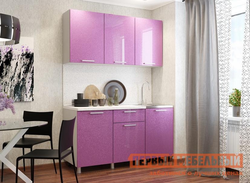Кухонный гарнитур Первый Мебельный Кухня Блестки 1,5 м кухонный гарнитур витра тиффани к2