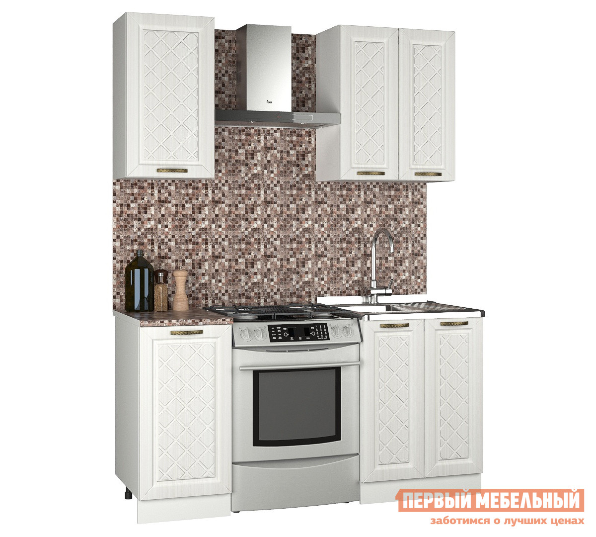 Прямой кухонный гарнитур Первый Мебельный Агава 1 м