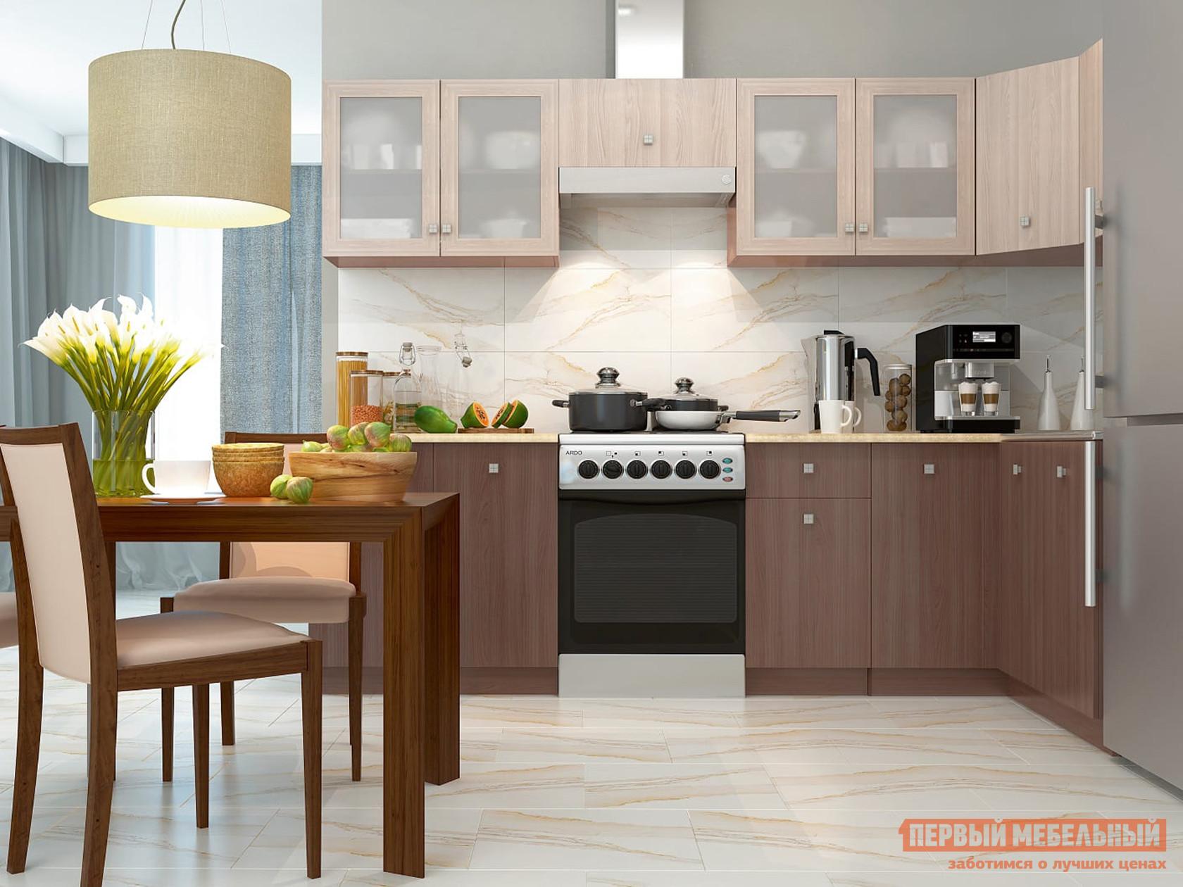 Угловой кухонный гарнитур Первый Мебельный Дели 280 х 120 см кухонный гарнитур трия фэнтези 4 300 х 130 см