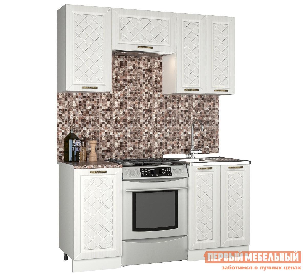 Прямой кухонный гарнитур Первый Мебельный Агава 1.6 м