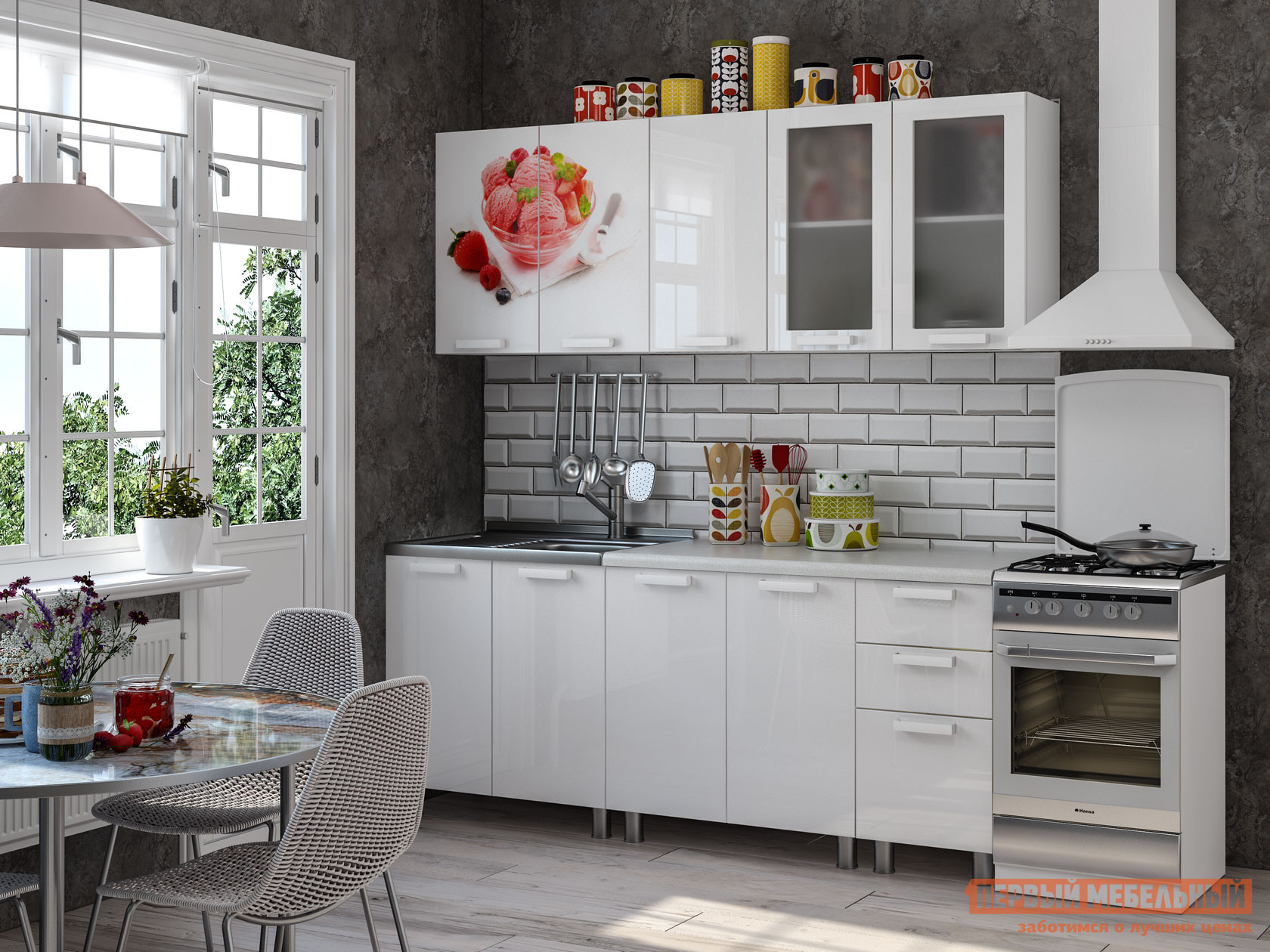 Кухонный гарнитур Первый Мебельный Айскрим