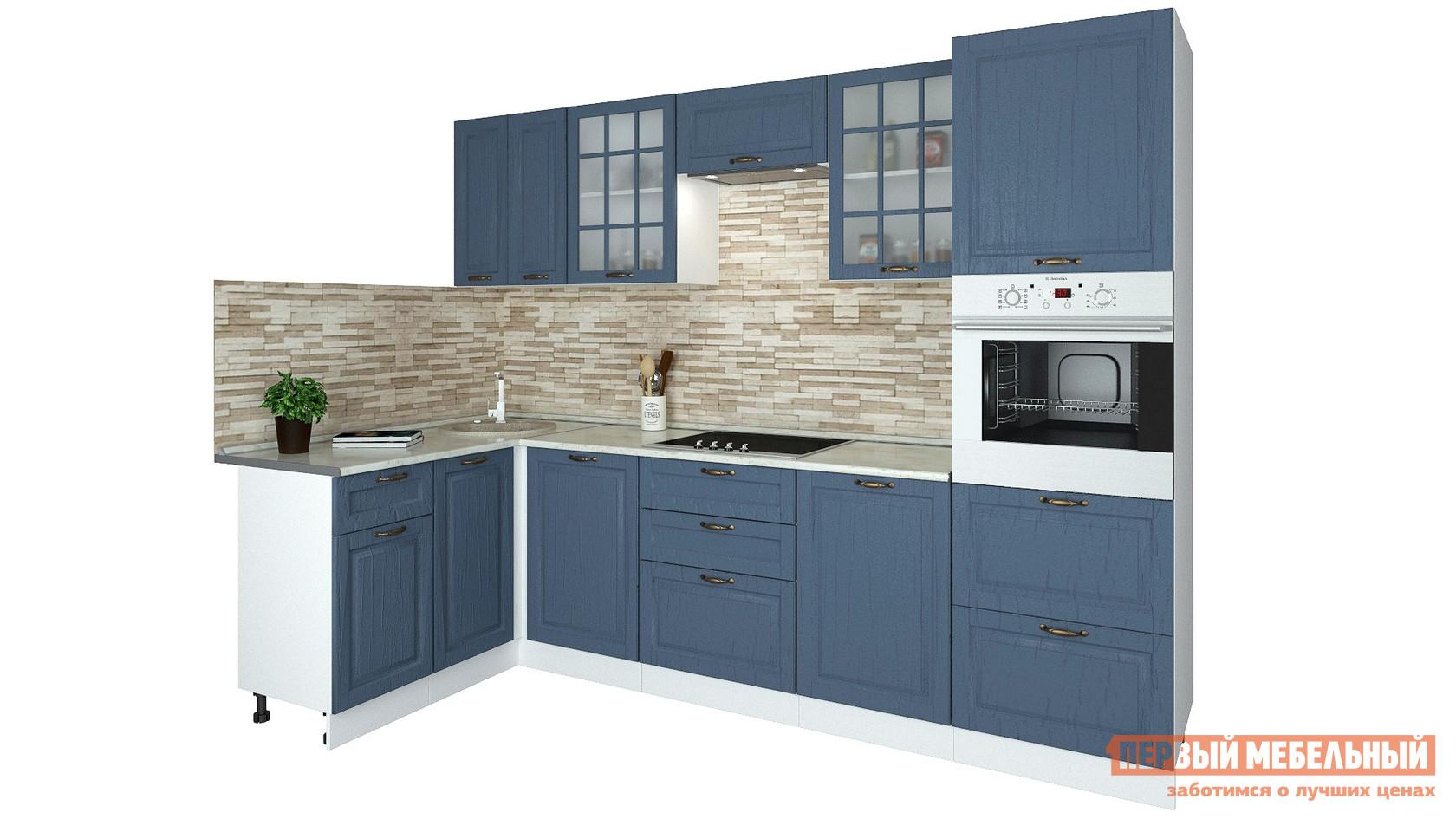 Угловой кухонный гарнитур Первый Мебельный Кухня Палермо 2,8х1,5 м