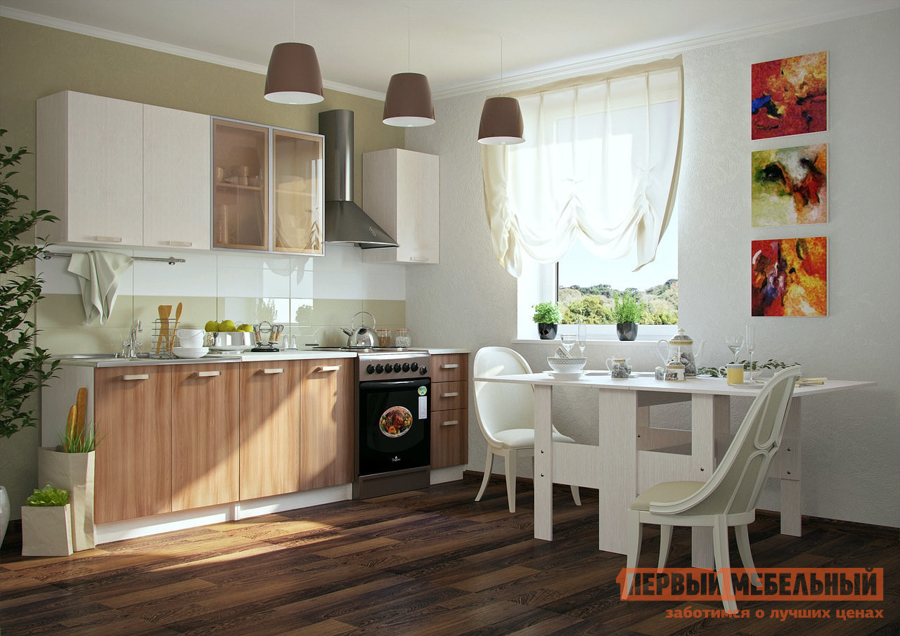 Кухонный гарнитур Первый Мебельный Катя 200 см кухонный гарнитур трия фэнтези 150 см