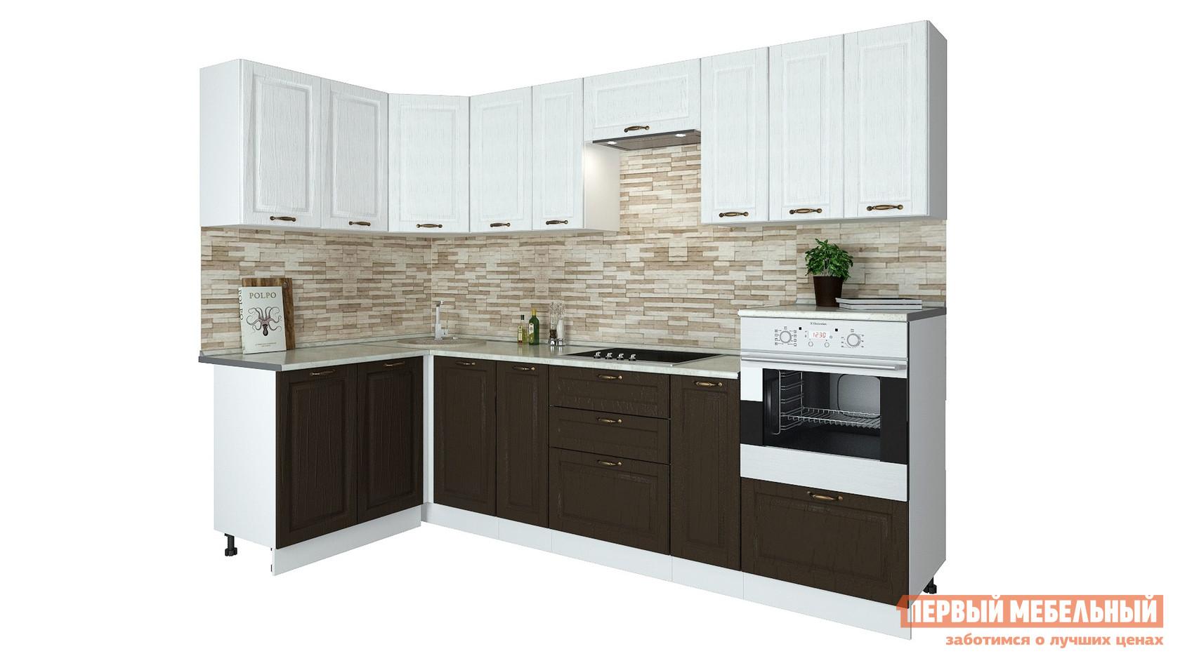 Угловой кухонный гарнитур Первый Мебельный Кухня Палермо 2,8х1,4 м