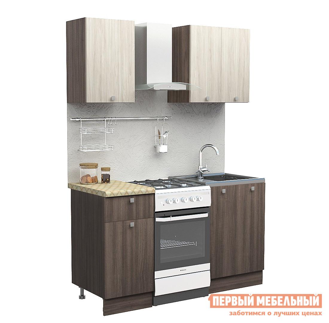 Прямой кухонный гарнитур Первый Мебельный Дели 1 м кухонный гарнитур латте 1 1