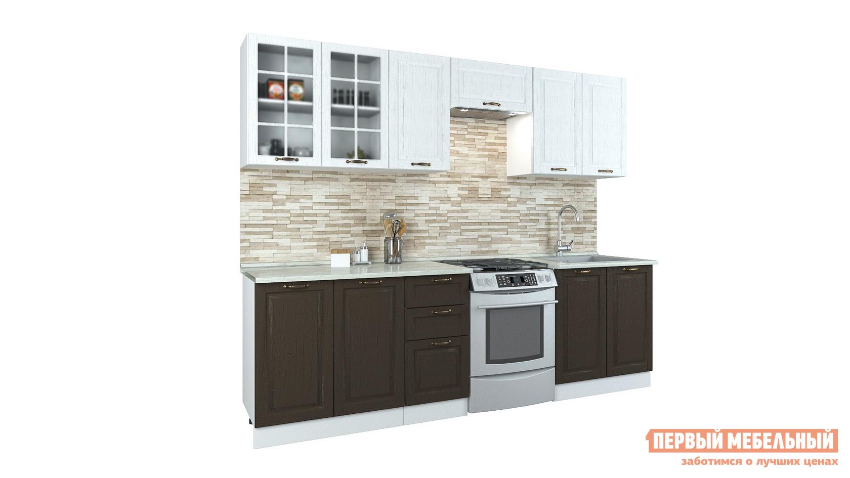 Прямой кухонный гарнитур Первый Мебельный Кухня Палермо 2,5 м кухонный гарнитур витра палермо 300 2