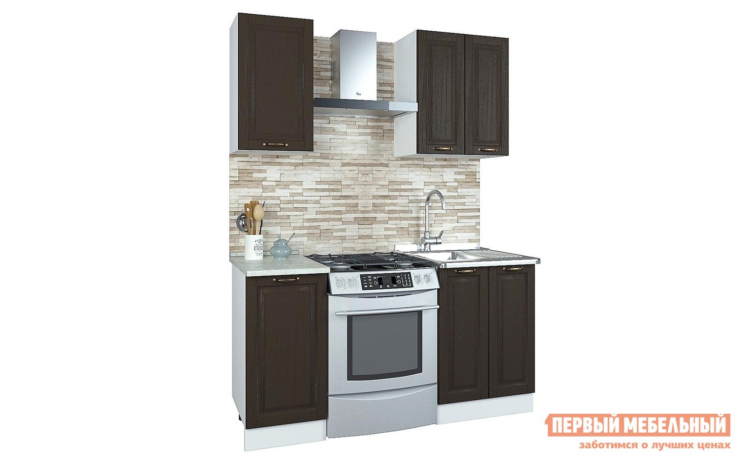 Прямой кухонный гарнитур Первый Мебельный Кухня Палермо 1 м кухонный гарнитур витра палермо 300 2
