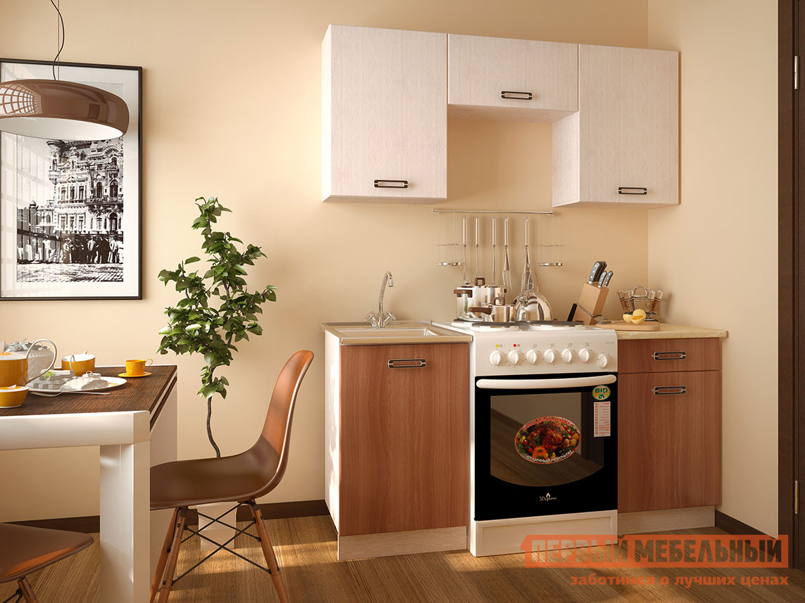 Кухонный гарнитур Первый Мебельный Катя 160 см кухонный гарнитур трия оливия 240 см