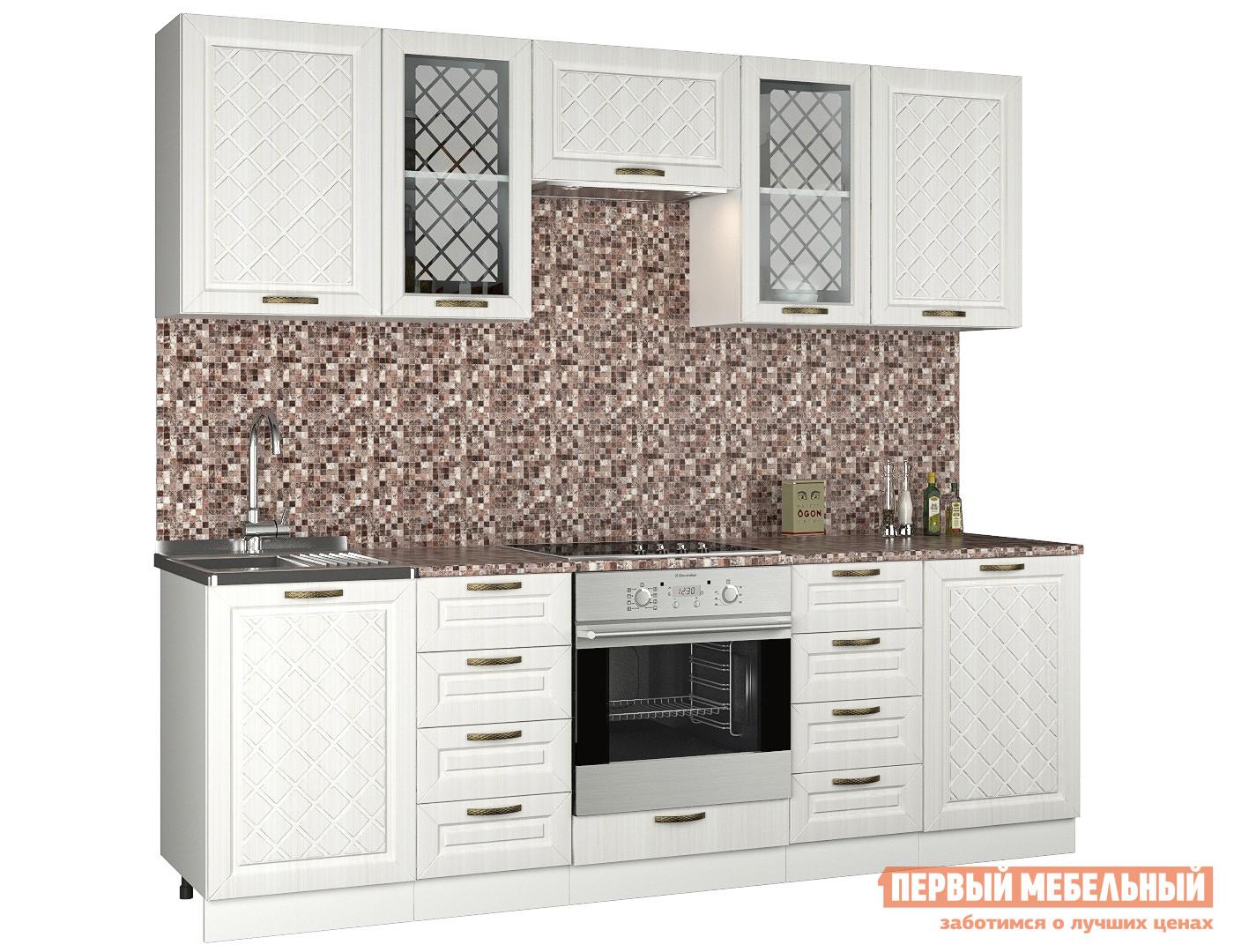 Прямой кухонный гарнитур Первый Мебельный Агава 2.4 м