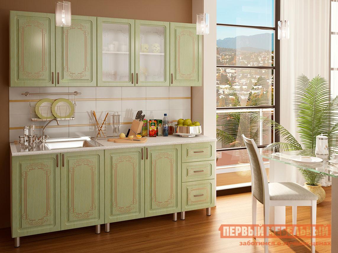 Кухонный гарнитур Первый Мебельный Прима Люкс с патиной 2 м кухонный гарнитур витра палермо 300 2