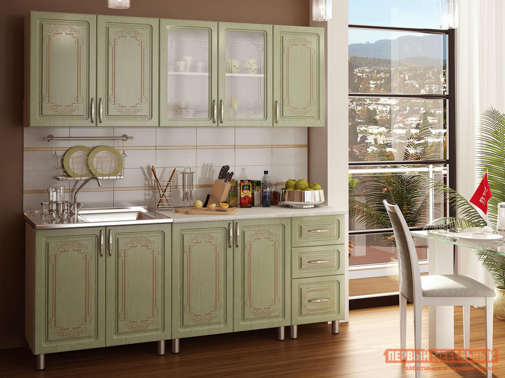Кухонный гарнитур Первый Мебельный Прима Люкс с патиной 2 м