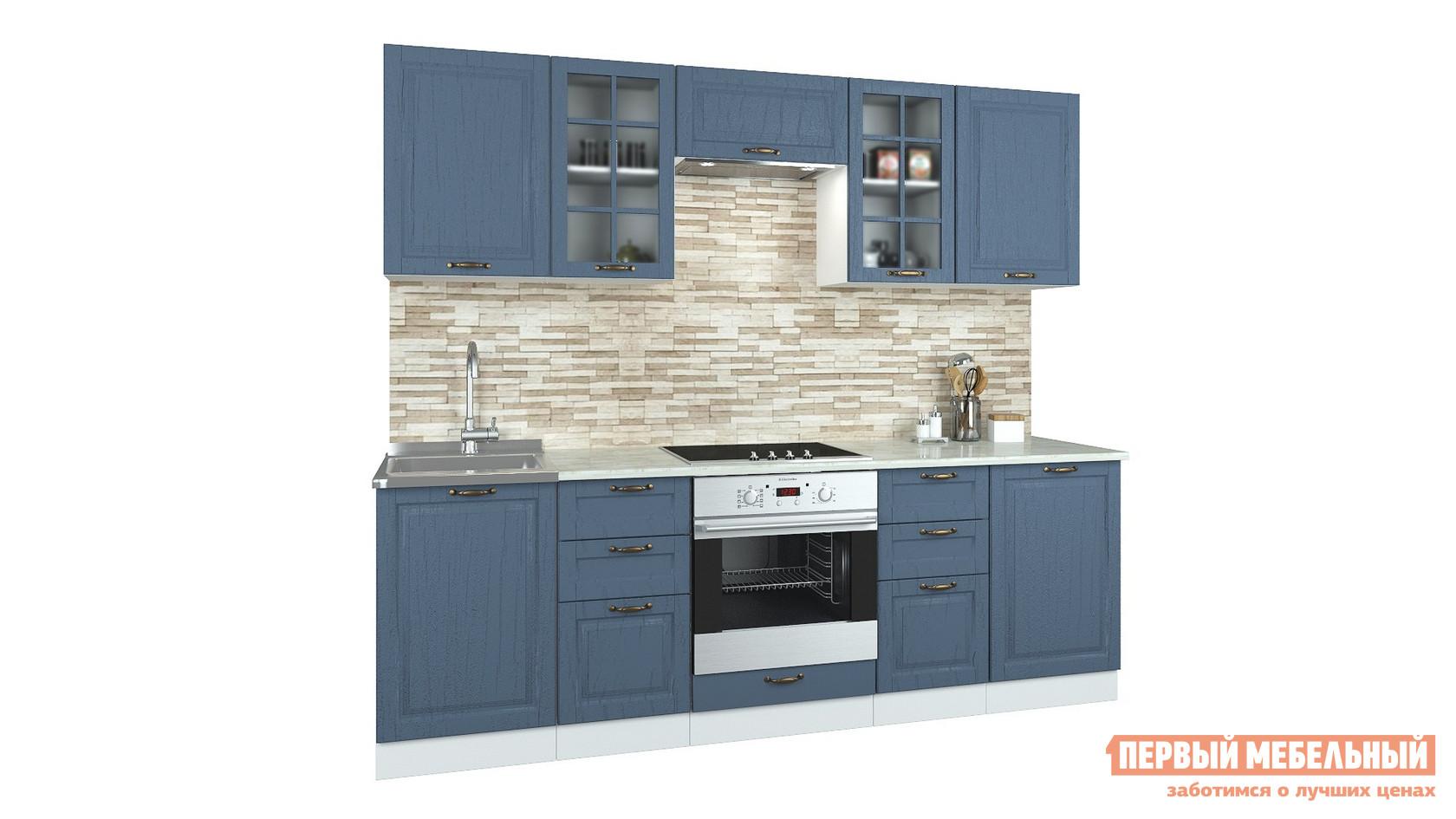 Прямой кухонный гарнитур Первый Мебельный Кухня Палермо 2,4 м