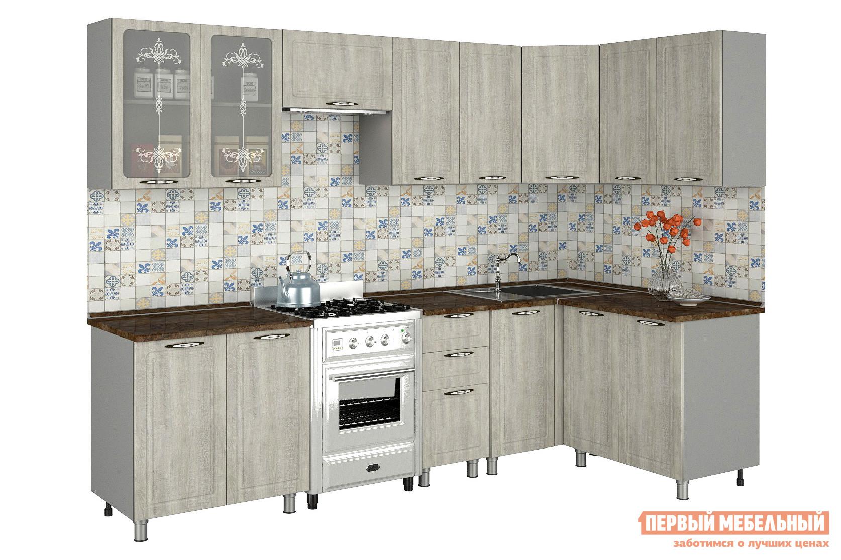 Угловой кухонный гарнитур Первый Мебельный Прованс 2,8х1,4 м