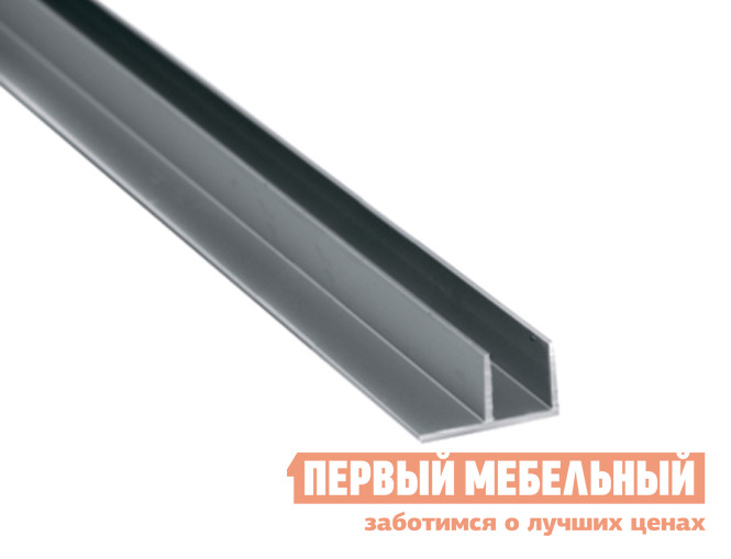 Аксессуар ПМ: СОЮЗ Планка для стеновой панели 4/6 мм угловая Матовый хром, Для стеновой панели 4 мм