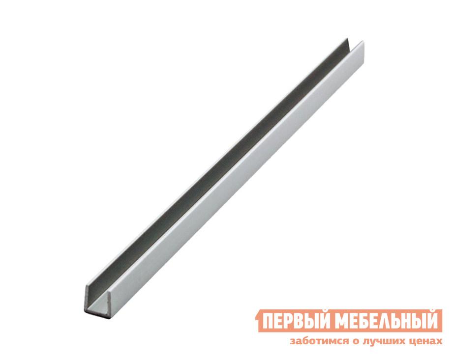 Аксессуар ПМ: СОЮЗ Планка для стеновой панели 4/6 мм торцевая Матовый хром, Для стеновой панели 4 мм