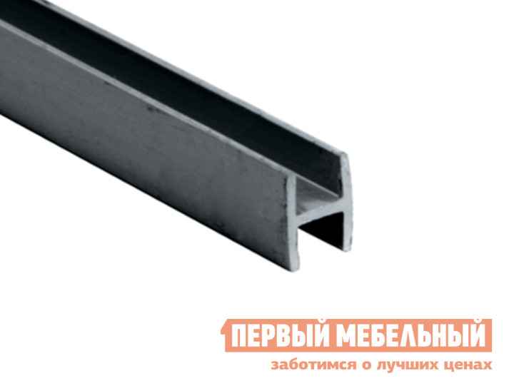 Аксессуар ПМ: СОЮЗ Планка для стеновой панели 4/6 мм щелевая Матовый хром, Для стеновой панели 4 мм