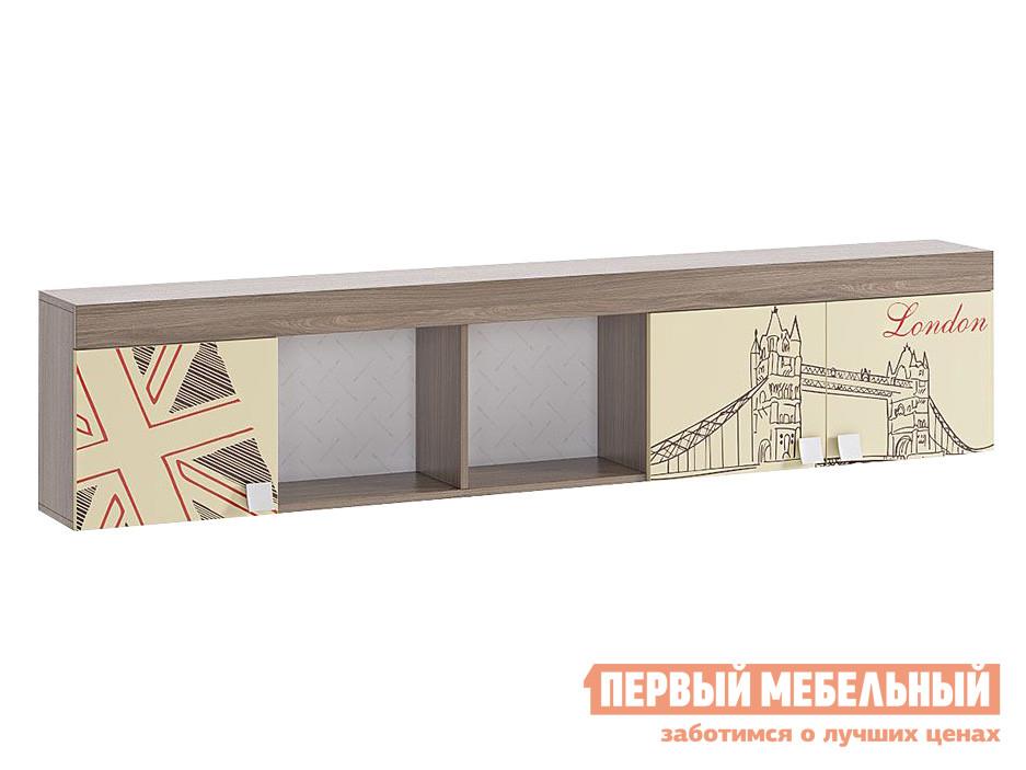 Детская полка  Челси Ясень Шимо темный / Крем МебельСон 63102