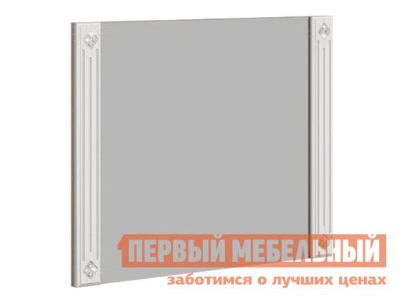 Настенное зеркало  Спальня Бьянко Зеркало Дуб сонома светлый / Белый глянец