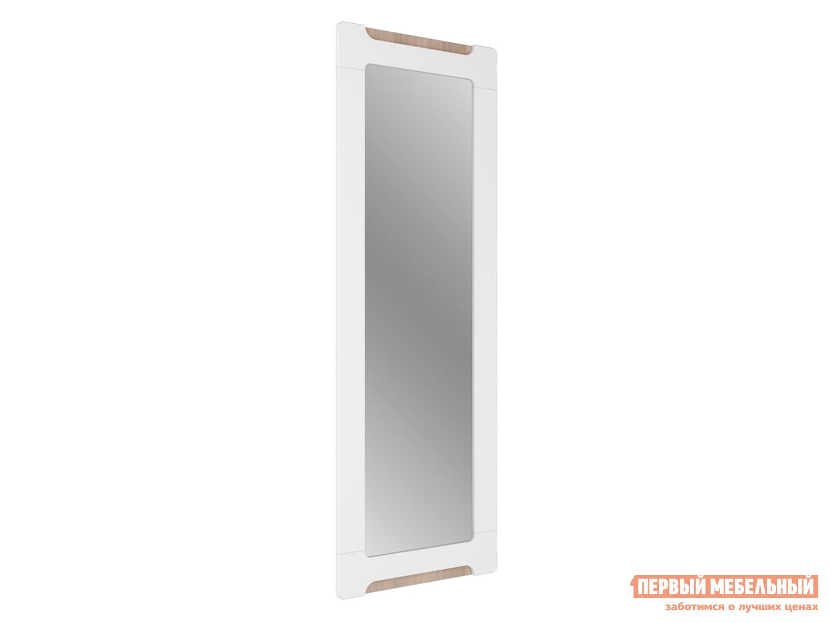 Настенное зеркало  Зеркало Палермо С11 Ясень Шимо Светлый / Белый глянец, Без опоры