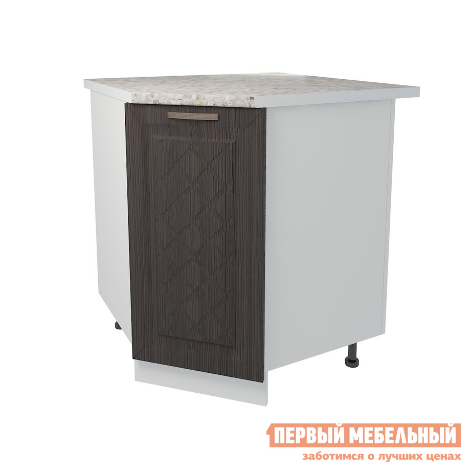 Кухонный модуль Первый Мебельный Стол угловой трапеция 1 дверь 85 см Агава