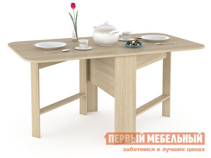 Кухонный стол  Глория 609 Стол-книжка Дуб Сонома