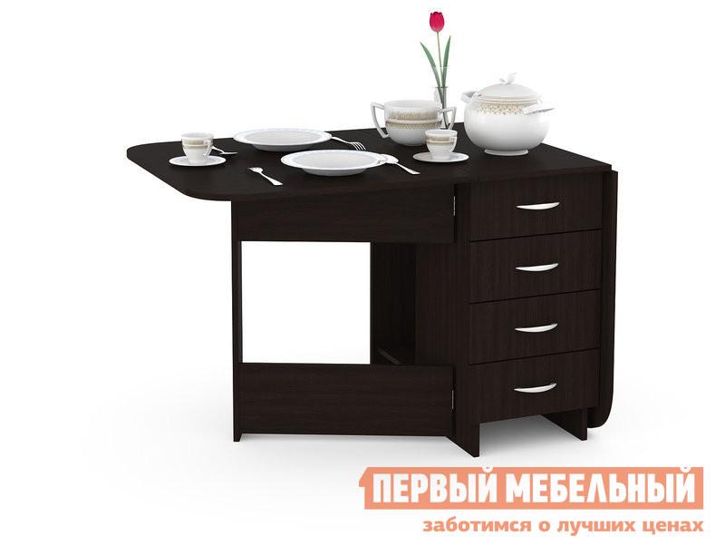 Кухонный стол  Глория 606 М Стол-книжка с ящиками Венге Магия