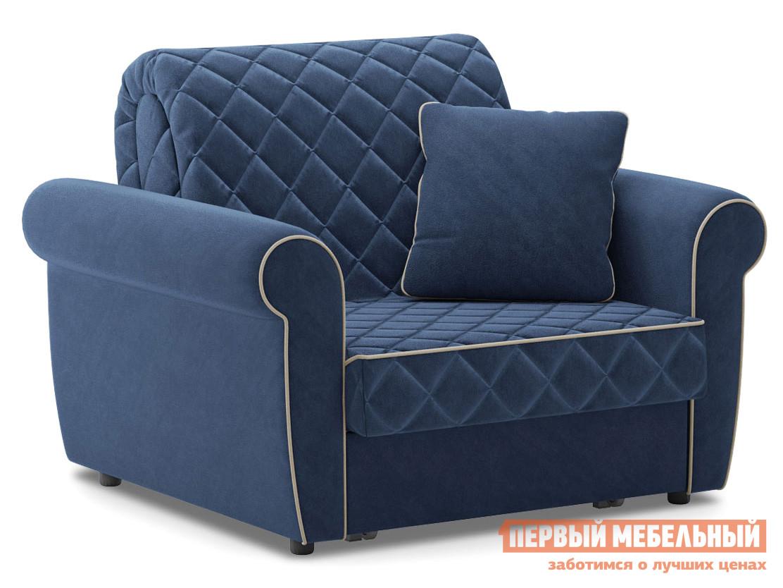Кресло  Кресло-кровать Денвиль / Кресло-кровать Денвиль Люкс Синий, велюр, Независимый пружинный блок — Кресло-кровать Денвиль / Кресло-кровать Денвиль Люкс Синий, велюр, Независимый пружинный блок